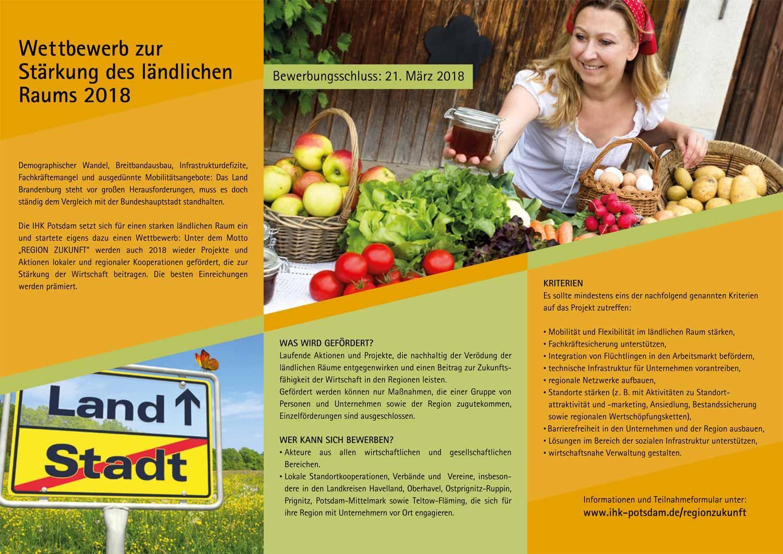 Wettbewerb Region Zukunft 2018 IHK Potsdam