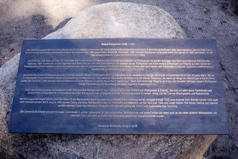 Gedenktafel für Georg Rothgießer