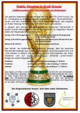 Fußball, WM, Weltmeisterschaft, Public Viewing, Groß Kreutz