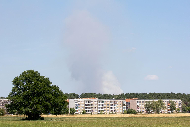 Stromtal, Brück-Ausbau, Waldbrand, Fichtenwalde, Feuerwehr