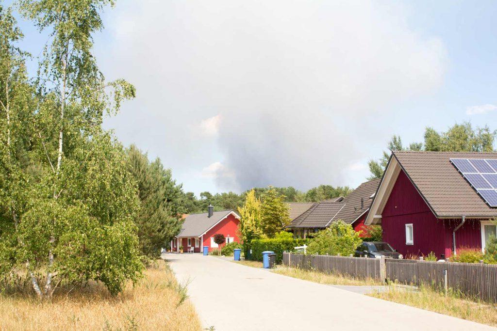 Borkwalde, Waldbrand, Fichtenwalde, Feuerwehr