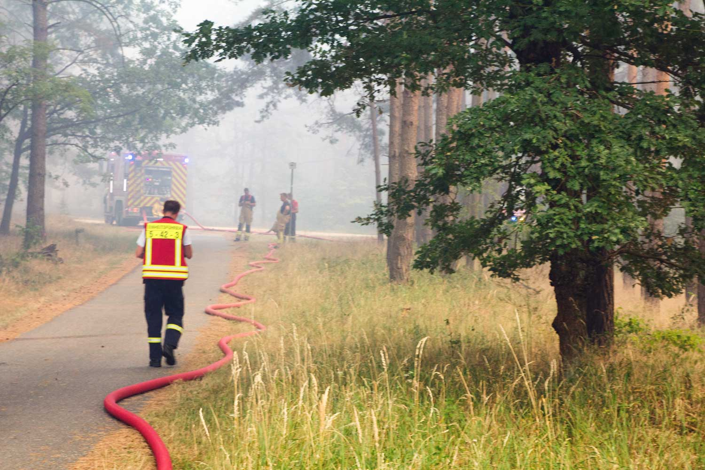 R1, Waldbrand, Fichtenwalde, Feuerwehr