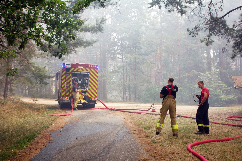 R1, A9, Waldbrand, Fichtenwalde, Feuerwehr