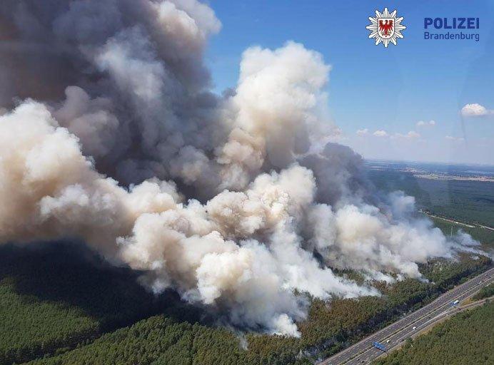 Brand, Fichtenwalde, Feuerwehr, Polizei Brandenburg