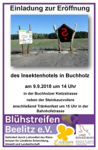 Blühstreifen Beelitz, Insektenhotel, Buchholu