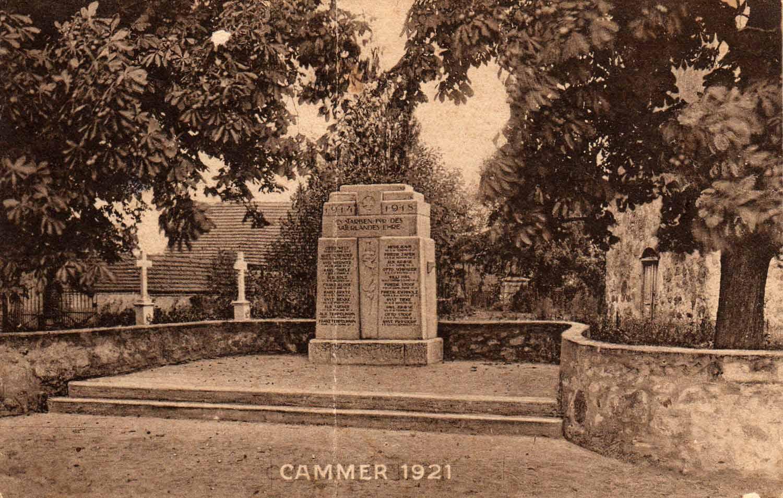 Kriegerdenkmal Cammer 1921