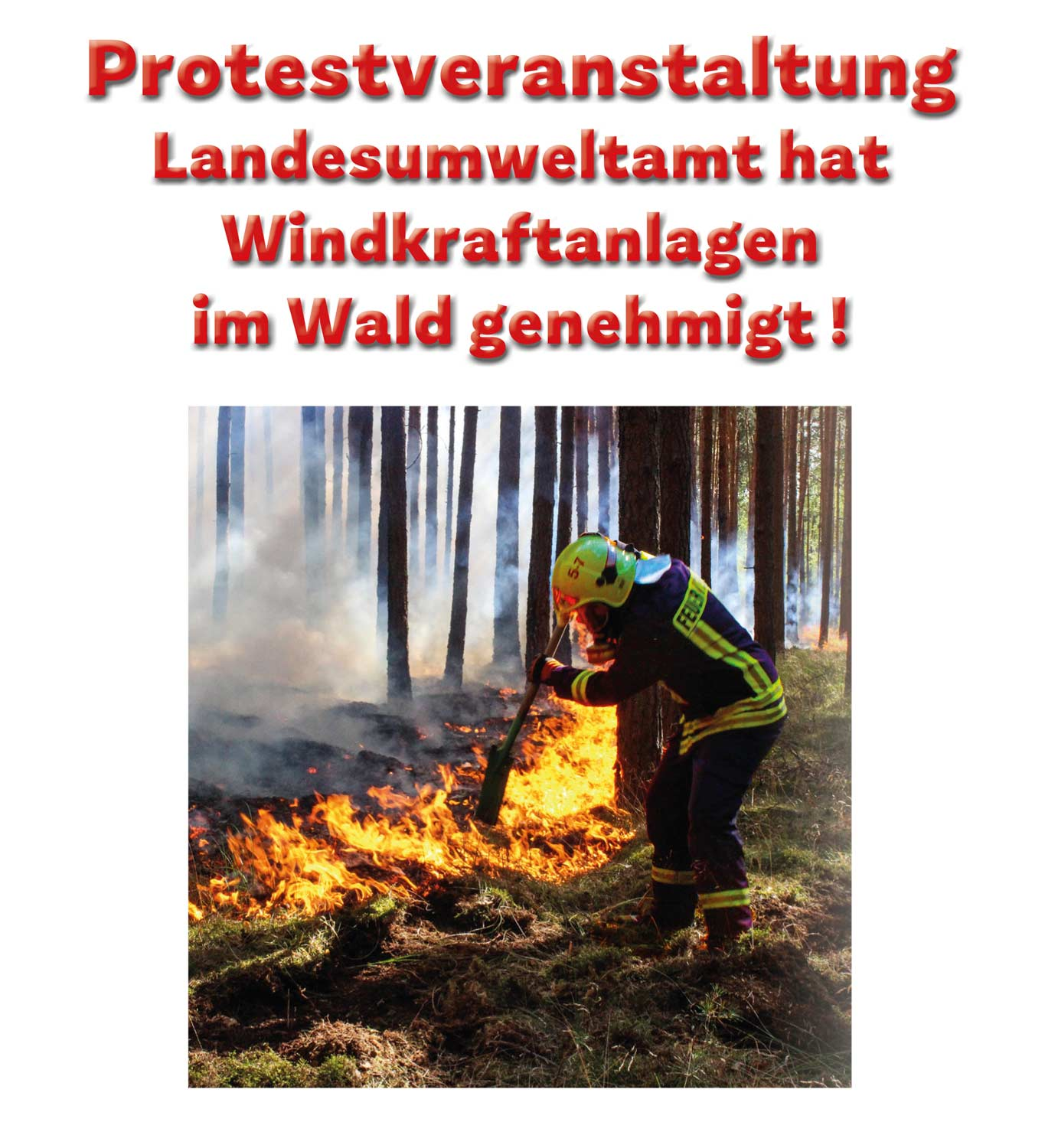 Protest in Reesdorf 20181110