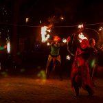 Fireflies, Borkheide, Waldbad, Weihnachtsmarkt, Feuershow