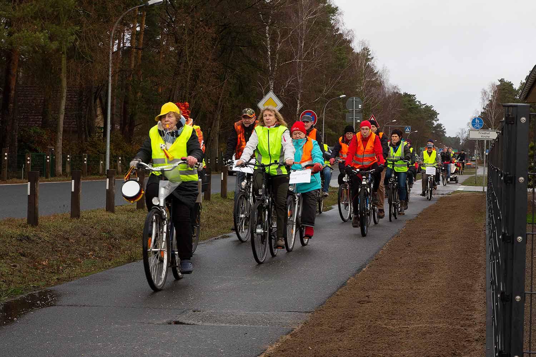 Fahrradkorso, Borkheide, Protest, gegen Windräder
