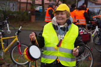 Fahrradkorso, Rose Mandler, Borkheide, Protest, gegen Windräder