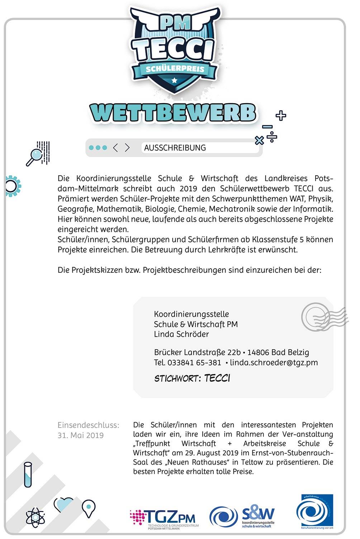 TECCI-Ausschreibung (Zum Herunterladen der PDF bitte auf das Bild klicken)
