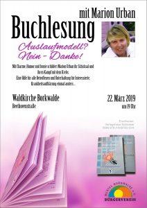 Buchlesung mit Marion Urban @ Waldkirche Borkwalde
