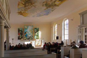 Spaziergang, Damsdorf, Kirche Damsdorf