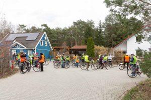 Waldkleeblatt, Borkheide, Borkwalde, Fichtenwalde, Fahrraddemo, Gelbwesten, Windkraft, Protest, Windräder im Wald