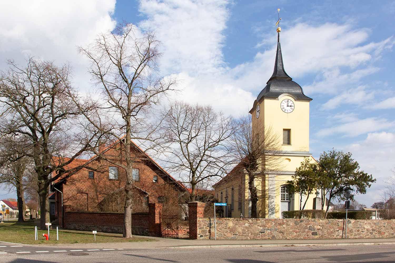 Ortsspaziergang, Prützke, Kloster Lehnin, Kirche, Alte Schule