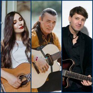 """""""Der besondere Abend"""" mit drei Spitzengitarristen - Lulo Reinhardt,  Yuliya Lonskaya und Daniel Stelter @ Mensa der """"Hans-Grade-Schule"""""""