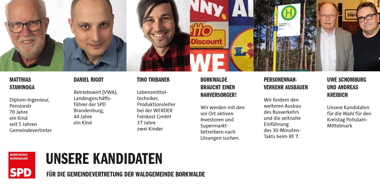 SPD, Borkwalde, Kandidaten, SPD Borkwalde