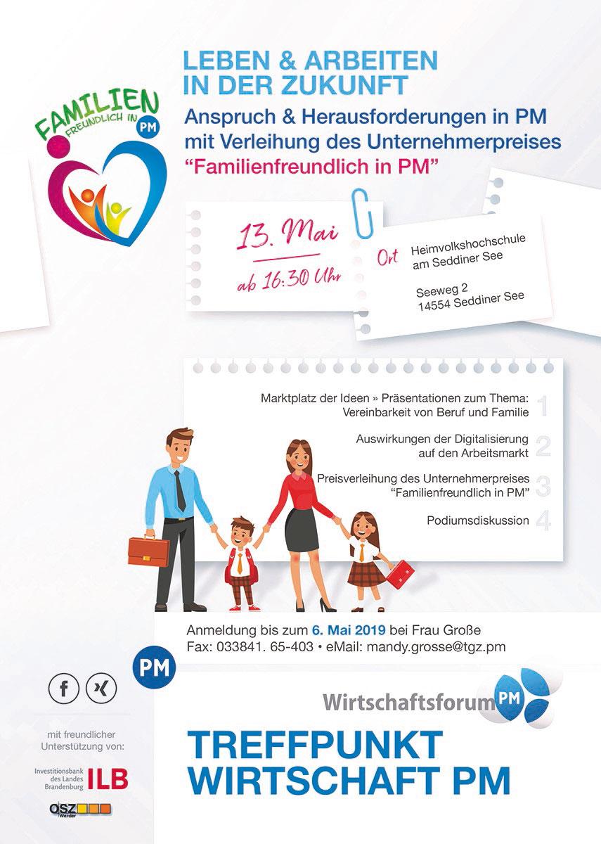 Plakat Familienfreundlich in PM