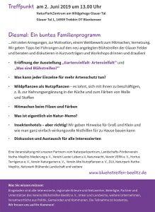Aktionstag Insektenschutz, Glau, Blühstreifen, Blühstreifen Beelitz