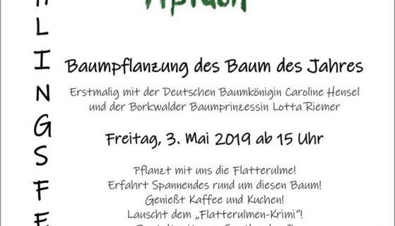 Fruehlingsfest mit Baumpflanzung Mai 2019