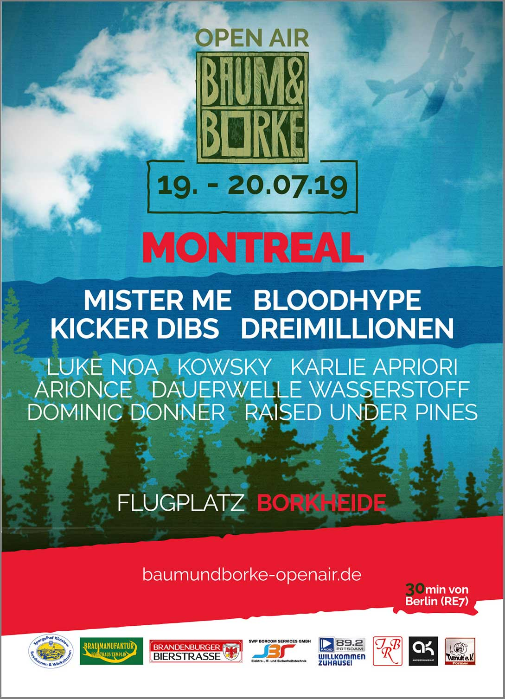 Baum & Borke 2019, Borkheide, Open Airs