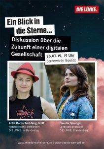 Ein Blick in die Sterne mit Anke Domscheit-Berg und Claudia Sprengel @ Sternwarte Beelitz (ehemaliger Wasserturm)