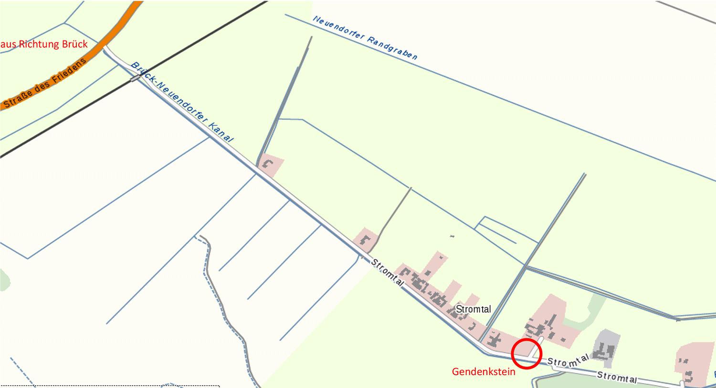 Ortsplan, Stromtal