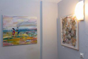 Juri Shipulin und zwei seiner Bilder