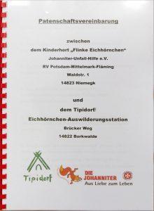 Flinke Eichhörnchen, Tipidorf, Eichhörnchen-Auswilderungsstation, Niemegk, Borkwalde