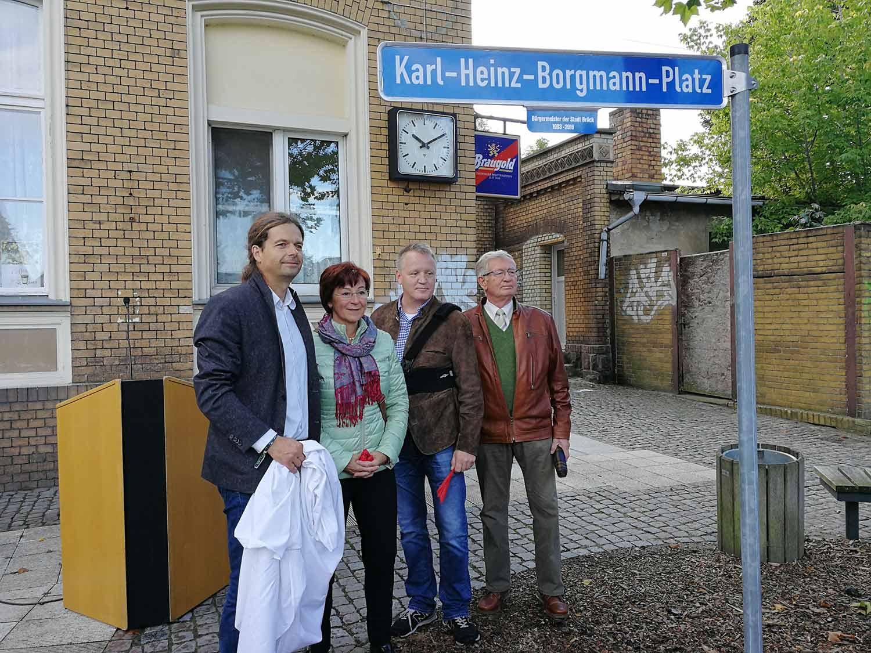 v.l.n.r.: Matthias Schimanowski, Margrid Wernicke, Uwe Borgmann, Lothar Koch