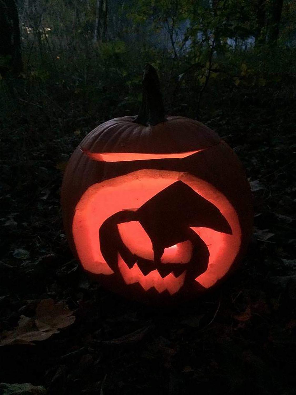 Halloween, Wanderung, Fenne, Damsdorf, Kürbosschnitzen