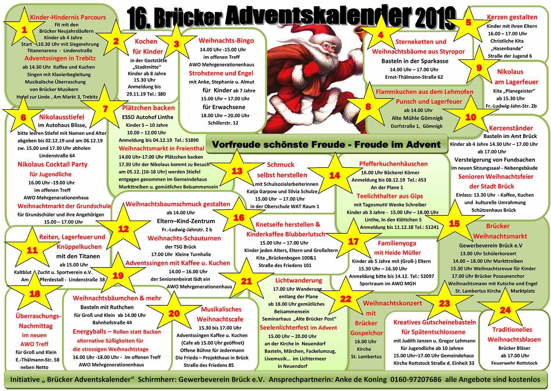Brück, Lebendiger Adventskalender 2019, Advent, Gömnigk, Neuendorf, Freienthal