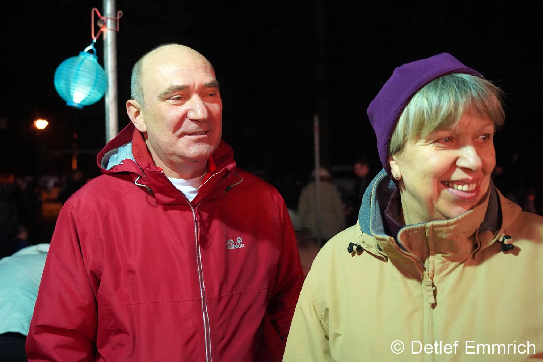 Bürgermeister Egbert Eska und die Leiterin der Kita Cordula Knüpfer