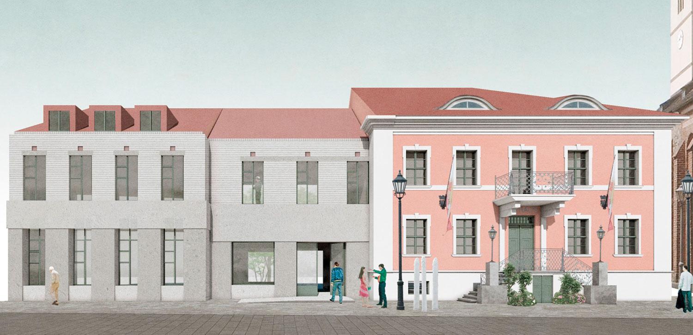 Beelitz, Rathauseck, Siegerentwurf