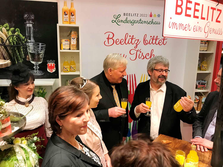 Beelitz, Grüne Woche, Axel Vogel, Bernhard Knuth, Spargelkönigin