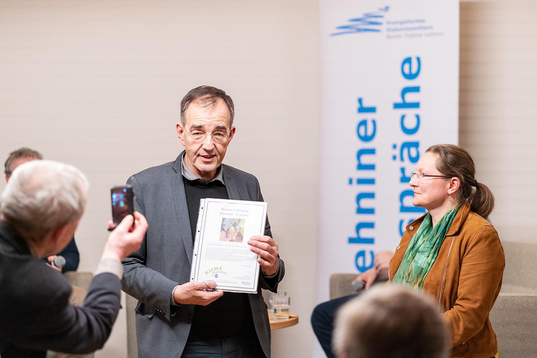 """Umweltpreis """"Blauer Planet"""", Lutz Ausserfeld, Lehniner Gespräch, Evangelisches Diakonissenhaus, Lehnin"""