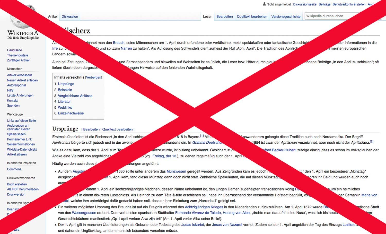 Aprilscherz-Wikipedia