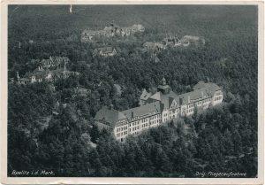 Alpenhaus, Historische Fliegeraufnahe, Beelitz-Heilstätten