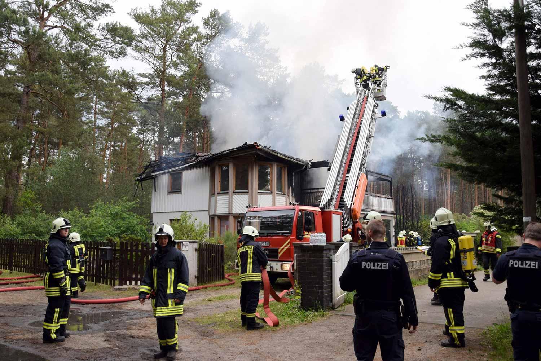 Brand, Borkwalde, Körnerstraße.