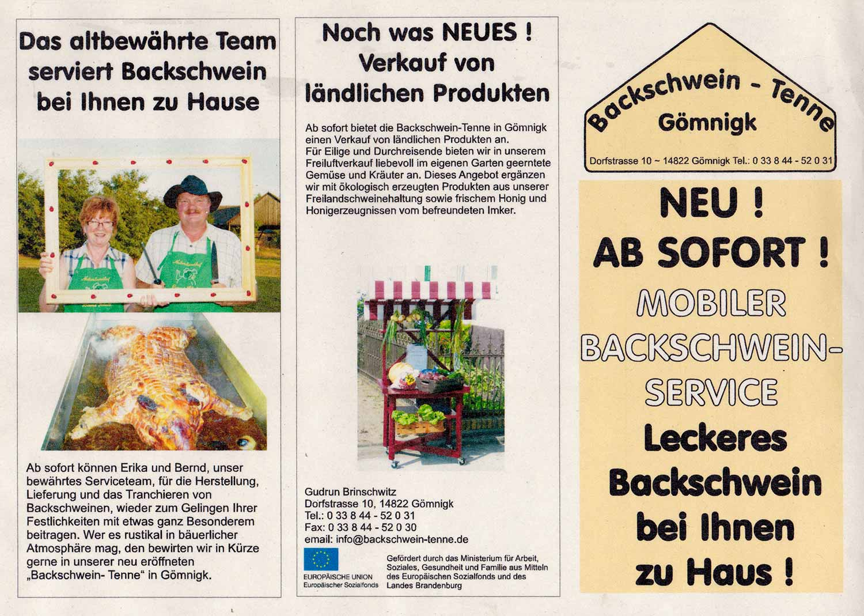 Backschwein-Tenne, Gömnigk, Bernd Schulz