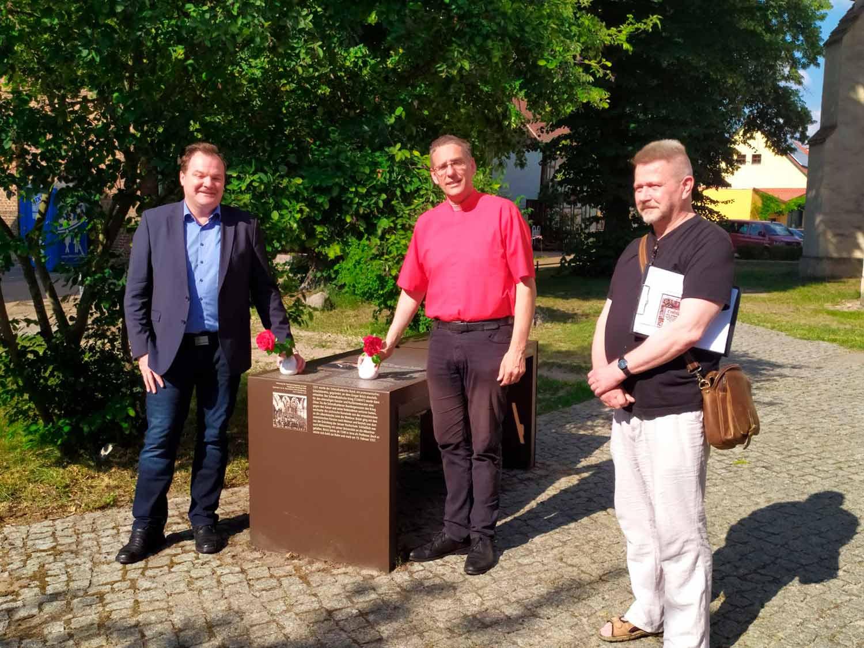 Gregor von Brück Gedenken, Michael Klenke. Helmut Kautz, Heino Winkler