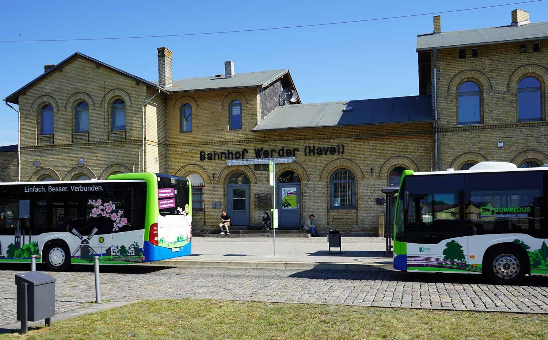 Bushaltestellen am Stadtbahnhof Werder, Werder (Havel)