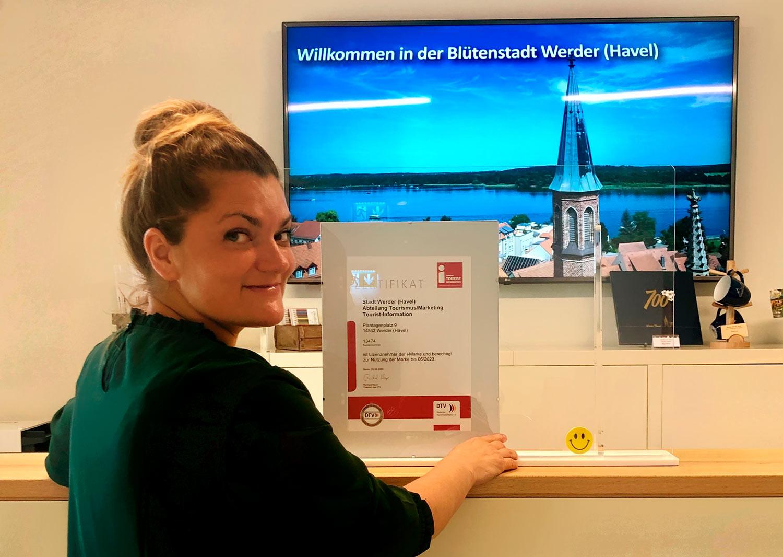 Christine Steinbach, i-Zertifikat, Tourismus-Information, Werder (Havel)