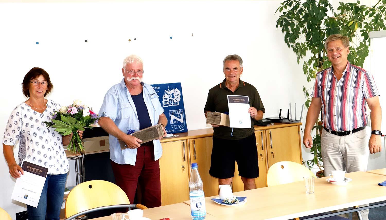 Kloster Lehnin, Wanderwarte, Jutta Scherling, Konrad Müller, Klaus-Peter Lenz, Uwe Brückner