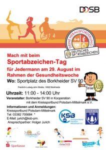 Sportabzeichen-Tag @ Sportplatz des Borkheider SV 90