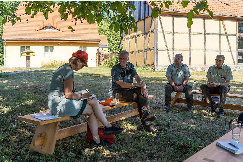 Anke Domscheit-Berg, Jörg Dechow, Thorsten Hufnagel, Lothar Greinke, Oberförsterei Lehnin