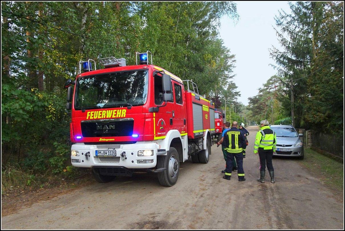 Feuerwehreinsatz in Borkwalde