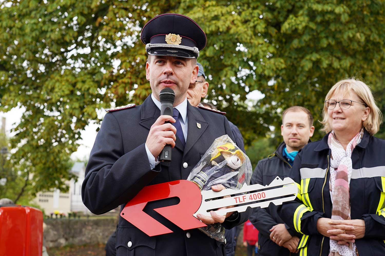 Glindow, Feuerwehr Glindow, Manuela Saß, Sebastian Schenk