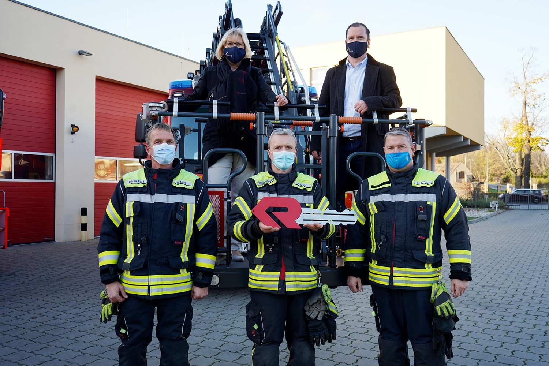 Übergabe DLA-K 23/12, Feuerwehr, Werder (Havel), Drehleiterfahrzeug