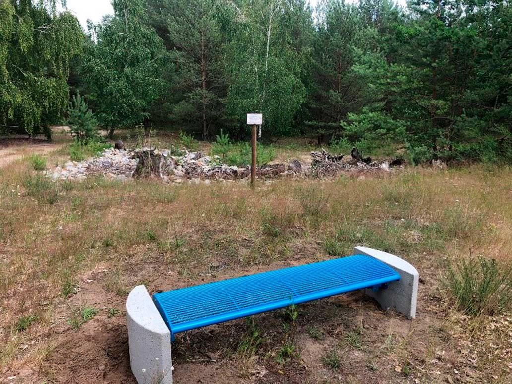 Parkbank im Lehniner Wald